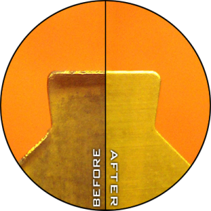 Insert Regrind Before & After (x20 Magnification)
